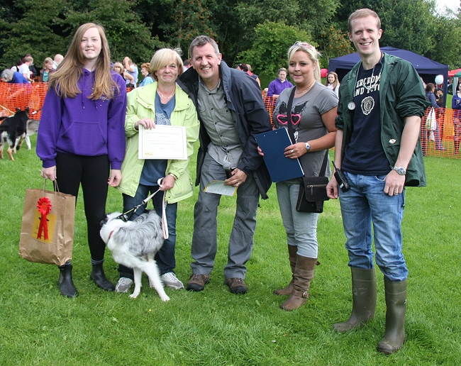 Winners Of The Friendliest Pup Megan And Pauline Aspinall With Misty